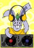 dj królik royalty ilustracja