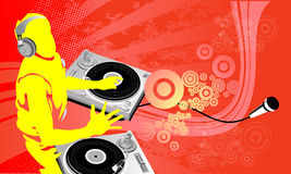 DJ-Kunstarbeit Lizenzfreie Stockfotos