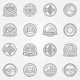 DJ labels or badges Royalty Free Stock Photo