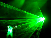 DJ laser Stock Photo