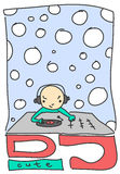 DJ lindo ilustración del vector