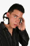 DJ  listening to his favorite music Stock Photo