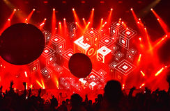 Dj Lost Frequencies mixing live on the stage royalty free stock photo