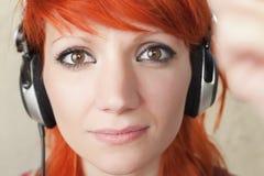 DJ-Mädchen Stockfoto