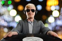 DJ man portrait Stock Photos