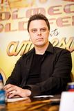 DJ Markus Schulz on press conference in Moscow Royalty Free Stock Image