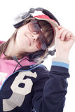 DJ-Mädchen Stockfotos