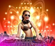 DJ en mixer stock illustratie