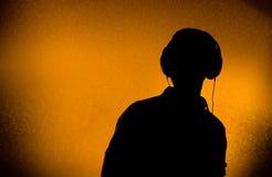 DJ met oortelefoons royalty-vrije stock afbeeldingen