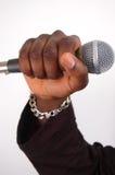 dj mic стоковое изображение