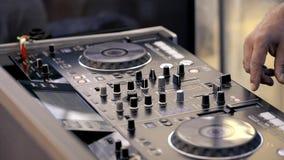 DJ miesza muzycznych ?lada na audio konsoli zbiory