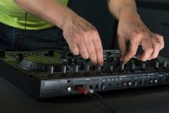 DJ-Mischernahaufnahmeporträt Lizenzfreie Stockbilder