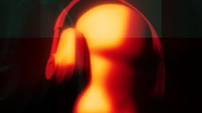 DJ mit Kopfhörer-Animation vektor abbildung