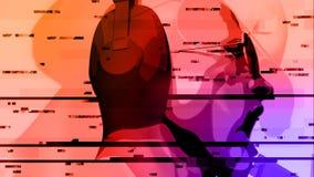 DJ mit Kopfhörer-Animation lizenzfreie abbildung