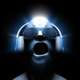 DJ mit Kopfhörern Stockbild