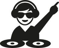DJ mit Sonnenbrilledrehscheiben Lizenzfreie Stockfotos