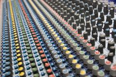 Dj mix. Profesional studio equipment for sound mixing stock photos