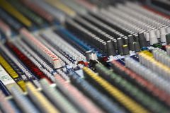 Dj mix. Profesional studio equipment for sound mixing Stock Images