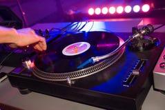 Dj mix. Ing in night club Stock Photos