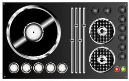 Dj mix. Vector illustration color Royalty Free Stock Photo