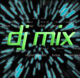 DJ Mix Montage. Typography montage themed around dj mix / music related Royalty Free Stock Photos