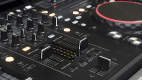 Dj mixer. In black colour Royalty Free Stock Photo