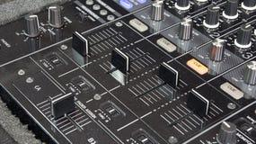 Dj mixer. In black colour Stock Photo