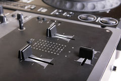Dj mixer and cd player Royalty Free Stock Images