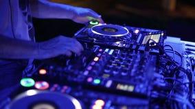 DJ mixer at the club stock footage