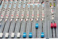 DJ mixer Console Royalty Free Stock Images