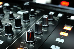 Dj mixer control buttons Stock Photo