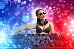 Dj and mixer Stock Image