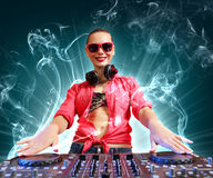 Dj and mixer Royalty Free Stock Image