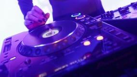 DJ mixer stock video