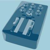 Dj mixer. On light blue background. Vector illustration Royalty Free Stock Images