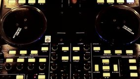 Dj mixer stock video footage