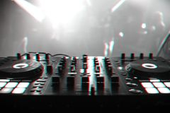 DJ mixer for mixing music and sound royalty free stock image