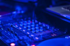 Dj mixer in a music club Royalty Free Stock Image