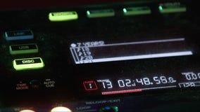 DJ mixer at night club stock video footage