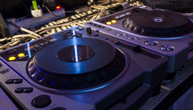 Dj mixer  at a nightclub. Stock Image