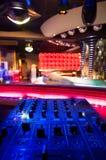 Dj mixer at a nightclub. Stock Image