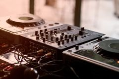 Dj Mixer and Turntable royalty free stock images