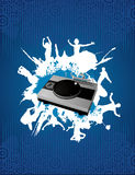 Dj mixer vector composition Stock Photography