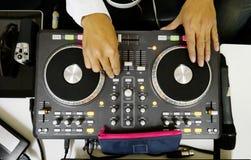 DJ mixes sound Stock Photo