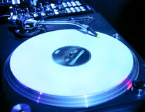 Dj mixes the track in the nightclub Stock Images