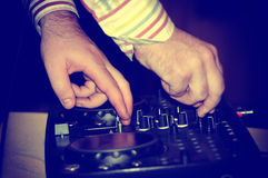 Dj mixes the track Stock Photography