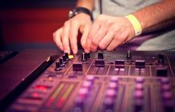 Dj mixing Stock Images