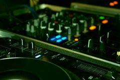 Dj mixing Royalty Free Stock Images