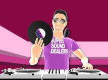 DJ mixing Stock Photos