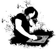 DJ mixing grunge Royalty Free Stock Images